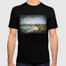 Living by the ocean Mens Fitted Tee MEDIUM Black