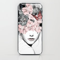 WOMAN WITH FLOWERS 10 iPhone & iPod Skin
