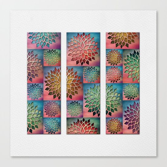 Abstract Petals Decoration Canvas Print