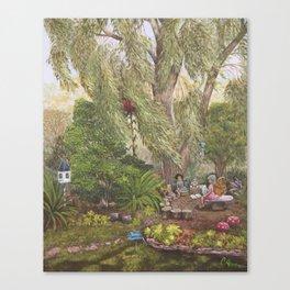 Faerie Garden Letters Canvas Print