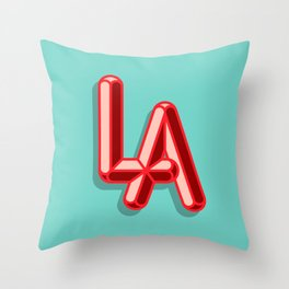 LA Brights Throw Pillow