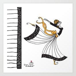 Sophia Butterfly Dancer Art Print
