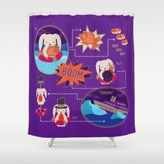 BUNNY SHIPWRECK FLOWCHART Shower Curtain