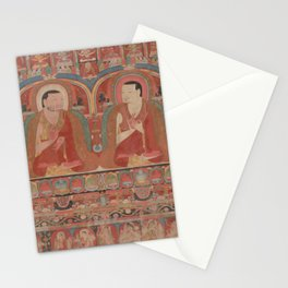Portrait of Two Lamas 14th Century Tibetan Buddhist Art Stationery Cards