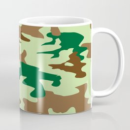 Camouflage Print Pattern - Greens & Browns Coffee Mug