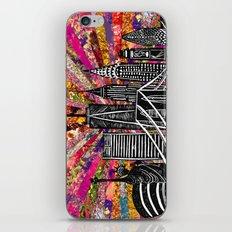 Linocut New York Blooming iPhone Skin