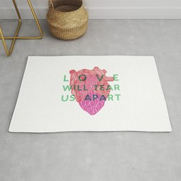 Love will tear us apart Rug