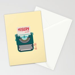 Misery, Horror, Movie Illustration, Stephen King, Kathy Bates, Rob Reiner, Classic book, cover Stationery Cards