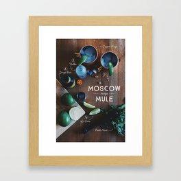 Moscow Mule Recipe Board Framed Art Print