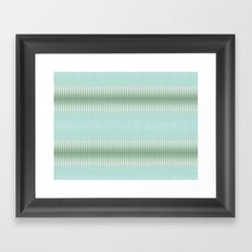 Seaside Stripes Framed Art Print