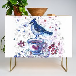 Winter Tea (Ble Jay) Credenza