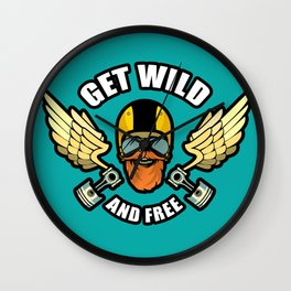 Get Wild And Free Wall Clock