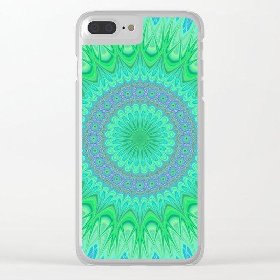 Crystal mandala Clear iPhone Case