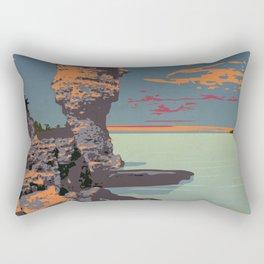 Fathom Five National Park Poster (Flowerpot Island) Rectangular Pillow