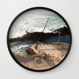 Rocky coast II  | Calm natural travel fine art print | Fuerteventura, Canary Islands, Spain Wall Clock