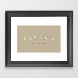Evolution of Paper Crane Framed Art Print