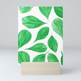 Fresh Spinach Watercolor Mini Art Print