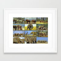 wildlife Framed Art Prints featuring Wildlife by Karl-Heinz Lüpke