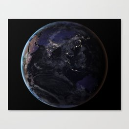 The Earth at Night 2 Canvas Print