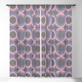 Crossing Lines II Sheer Curtain