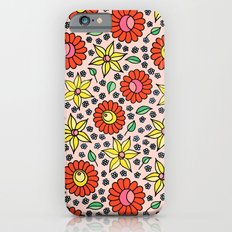 Hungarian embroidery inspired floral - red,yellow,and small flowers Slim Case iPhone 6s