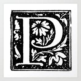 Monogram P Art Print