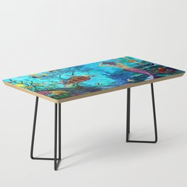 A Fish of a Different Color - Mermaid and seaturtle Coffee Table