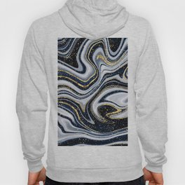 Grey,black and gold marble Hoody