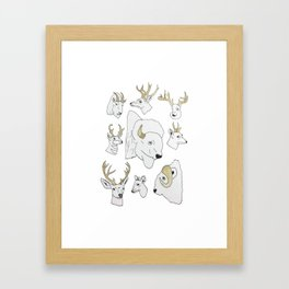 Horned Mounts Framed Art Print
