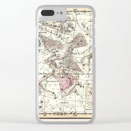 Taurus, Antinous, Aquila, Delphinus Constellations Celestial Atlas Plate 10 - Alexander Jamieson Clear iPhone Case