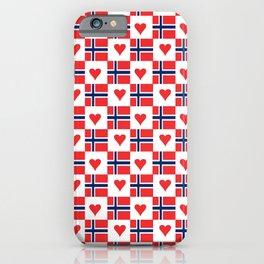 flag of norway 15 – Chalk version  snow,scandinavia,scandinavian,norwegian,oslo iPhone Case