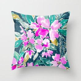 SUP DAWG Dogwood Floral Throw Pillow