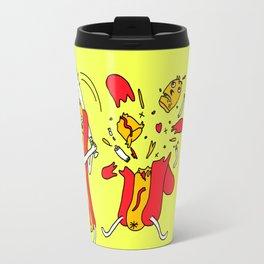 Hot Dog got a hit Travel Mug