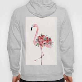 Flamingo Floral Hoody