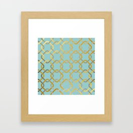 Silver and gold chains Framed Art Print