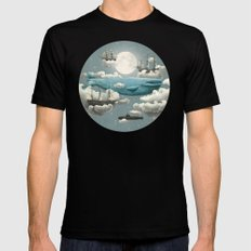 Ocean Meets Sky - colour option Black Mens Fitted Tee MEDIUM