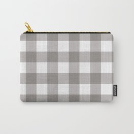 Grey & White Plaid Carry-All Pouch
