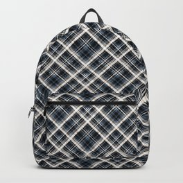 Squares and rectangles under the slope, checkered pattern. Backpack