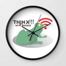 frog get wifi access Wall Clock