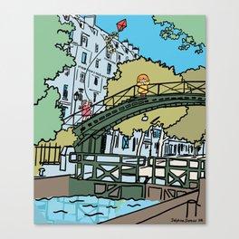 My Cute Paris Bridge Canvas Print
