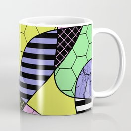 Pastel Collage - Multi patterned, abstract, pastel themed geometric art Coffee Mug