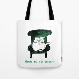Hands are for Stroking (Green) Tote Bag