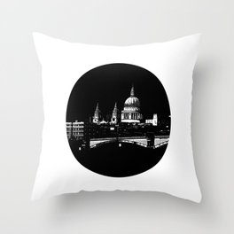 St Pauls-The darkness  Throw Pillow