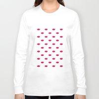 lips Long Sleeve T-shirts featuring lips by namaki