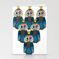 minions Stationery Cards featuring Owl Minions  by Gabriel J Galvan