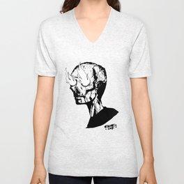 Beelzebub - flame skull Unisex V-Neck