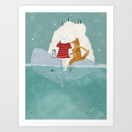 a winters journey Art Print