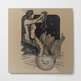 Mermaid Folies 1 Metal Print