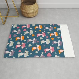 Foxes in many colors Rug