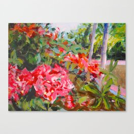 Flowers at Uxmal Painting Canvas Print
